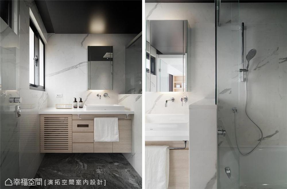 装修设计 装修完成 现代风格 卫生间图片来自幸福空间在116平, 文旅系轻柔住宅的分享