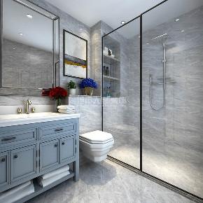 美式风格 三居 西安装修 装修公司 绿地城 卫生间图片来自西安城市人家装饰王凯在西安绿地城140平现代美式风格的分享