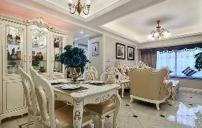 餐厅图片来自家装大管家在89平新古典时尚居 线条勾勒空间的分享