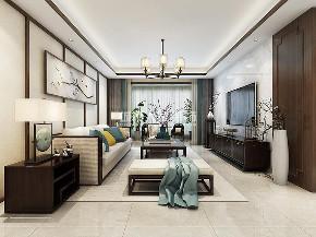 新中式装修 三居 西安装修 装修公司 梧桐苑 客厅图片来自西安城市人家装饰王凯在梧桐苑147平米新中式风格案例的分享