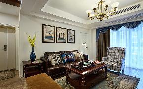 客厅图片来自家装大管家在休闲浪漫世界 116平简约美式3居的分享