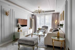 轻奢 法式 装修 客厅图片来自俏业家装饰在万科金域学府法式装修的分享