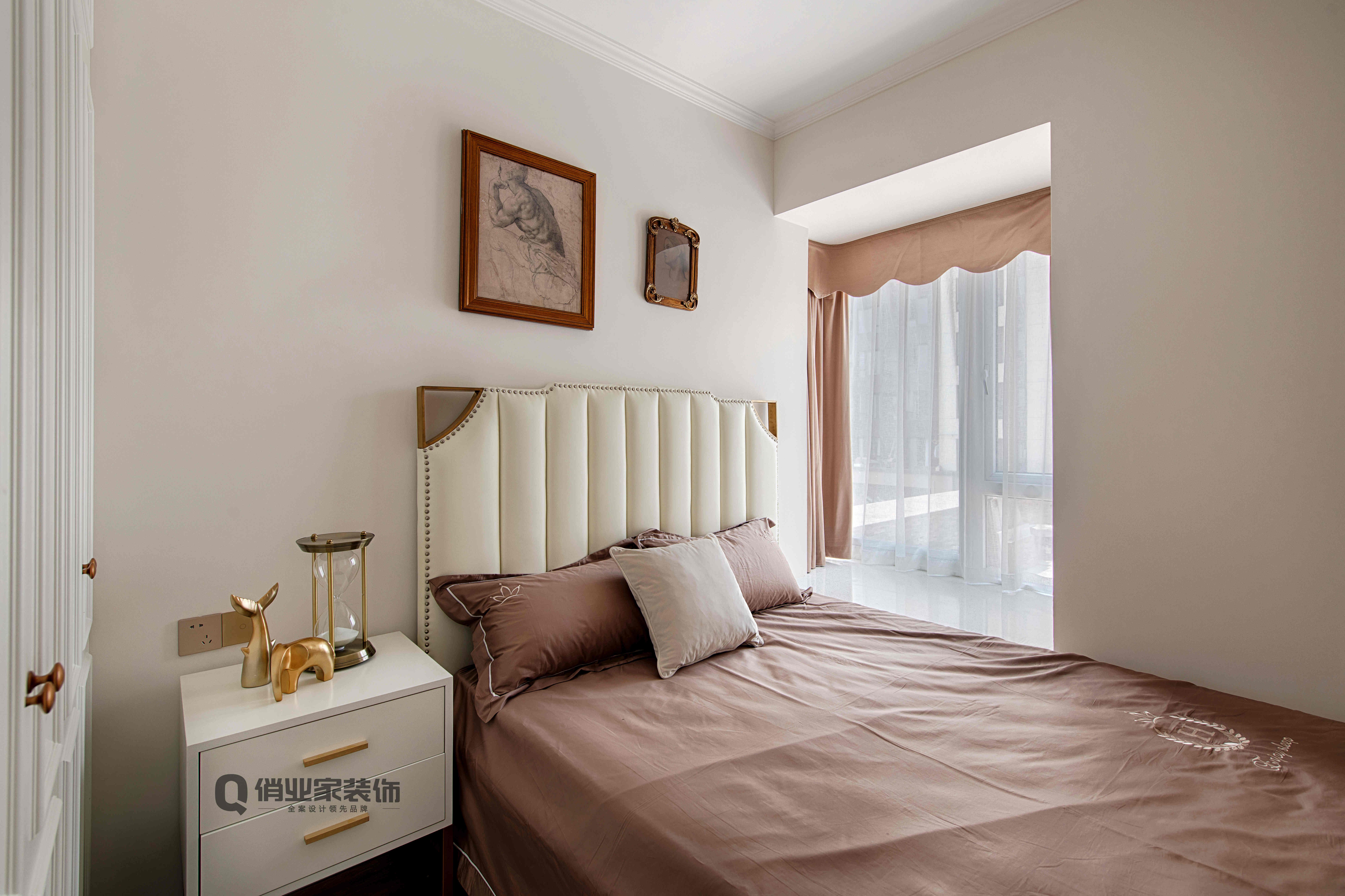 轻奢 法式 装修 卧室图片来自俏业家装饰在万科金域学府法式装修的分享