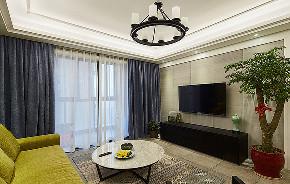 客厅图片来自家装大管家在123平简洁现代3居 实用精致生活的分享