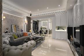 装修设计 装修完成 新古典 客厅图片来自幸福空间在281平,轻奢感新古典别墅的分享