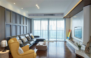 简约 一居 旧房改造 小资 80后 客厅图片来自北京今朝装饰在现代简约大一居的分享
