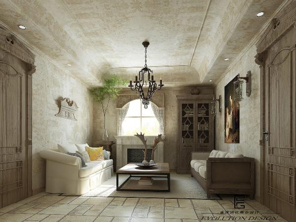家具简化的线条、粗犷的体积,在颜色的设计上也相对清淡。