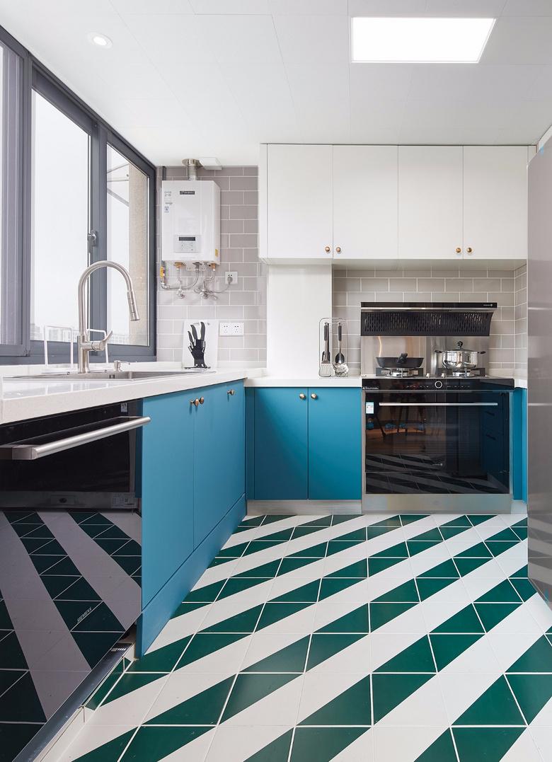 厨房图片来自家装大管家在80平北欧现代剧的分享