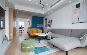 客厅图片来自家装大管家在80平北欧现代剧的分享