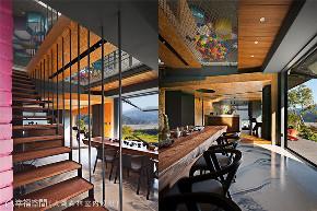 装修设计 装修完成 别墅 楼梯图片来自幸福空间在311平,轻触大地 (建筑篇)的分享