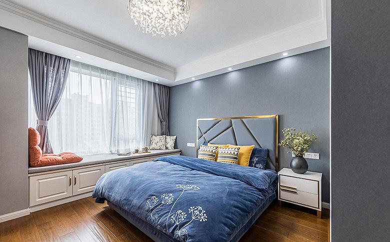 卧室图片来自家装大管家在淡雅清新气质 125平简约美式3居的分享