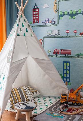 儿童房图片来自家装大管家在淡雅清新气质 125平简约美式3居的分享