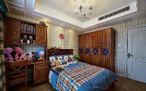 儿童房图片来自家装大管家在90平美式混搭空间 个性鲜明的家的分享