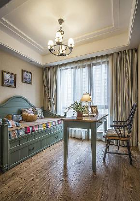 书房图片来自家装大管家在110平美式休闲3居 稳重不失时尚的分享
