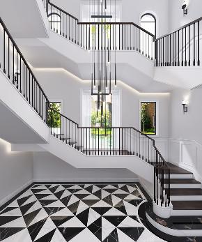 北京申远 申远空间 别墅装修 简美 楼梯图片来自申远空间设计北京分公司在北京申远空间设计-简美风格的分享