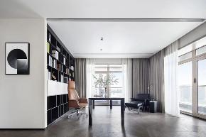 汤臣一品 豪宅装修 现代风格 腾龙设计 书房图片来自腾龙设计在汤臣一品大平层项目设计的分享