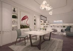 轻奢 书房图片来自晋级装饰潘露在晋级装饰——中海龙湾450平米的分享