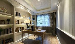 书房图片来自家装大管家在精致自然 110平美式混搭舒适3居的分享