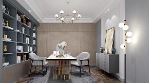 现代轻奢 大平层 大户型 灰蓝色的家 时尚 轻奢 现代 80后 书房图片来自几墨空间设计在几墨设计|灰蓝色的家的分享