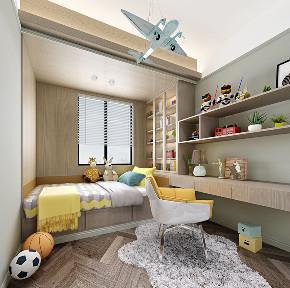现代轻奢 大平层 大户型 灰蓝色的家 时尚 轻奢 现代 80后 儿童房图片来自几墨空间设计在几墨设计|灰蓝色的家的分享