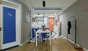 餐厅图片来自家装大管家在舒适温馨 86平炫彩简约时尚家的分享