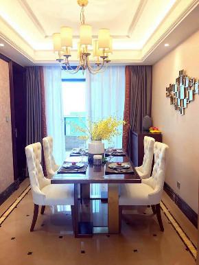 欧式 整天软装设 装修案例 家具 精装房 餐厅图片来自洛克整体软装设计在【洛克案例】润富国际精装房的分享