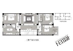 美式 别墅 收纳 旧房改造 尼欧设计师 福州设计师 户型图图片来自尼欧   NEO设计在尼欧—《雅韵华章》的分享