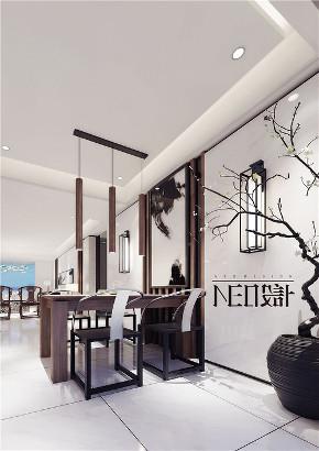 新中式 三居 福州设计师 白领 收纳 旧房改造 餐厅图片来自尼欧 | NEO设计在尼欧—《墨痕》的分享