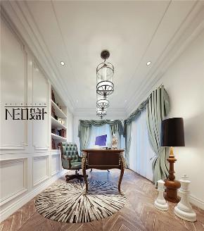 美式 别墅 收纳 旧房改造 尼欧设计师 福州设计师 书房图片来自尼欧   NEO设计在尼欧—《雅韵华章》的分享