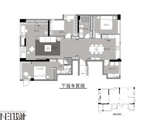 简约 现代 三居 白领 收纳 旧房改造 小资 户型图图片来自尼欧 | NEO设计在尼欧作品《流·光》的分享