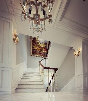 尼欧设计师 美式 别墅 福州设计师 楼梯图片来自尼欧 | NEO设计在尼欧—《高级灰+奢华金》的分享