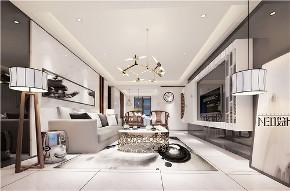 新中式 三居 福州设计师 白领 收纳 旧房改造 客厅图片来自尼欧   NEO设计在尼欧—《墨痕》的分享