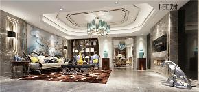 美式 别墅 收纳 旧房改造 尼欧设计师 福州设计师 客厅图片来自尼欧   NEO设计在尼欧—《雅韵华章》的分享