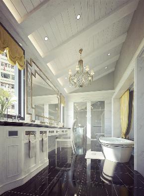 尼欧设计师 美式 别墅 福州设计师 卫生间图片来自尼欧   NEO设计在尼欧—《高级灰+奢华金》的分享