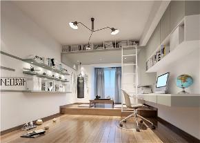 新中式 三居 福州设计师 白领 收纳 旧房改造 书房图片来自尼欧 | NEO设计在尼欧—《墨痕》的分享