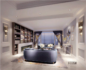 现代美式 简约 别墅 白领 收纳 旧房改造 80后 小资 客厅图片来自尼欧   NEO设计在尼欧——《韵沫》的分享