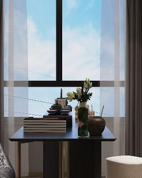 书房图片来自朱平波在大平层.复地金融岛 【筑梦空间】的分享