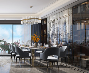 餐厅图片来自朱平波在大平层.复地金融岛 【筑梦空间】的分享