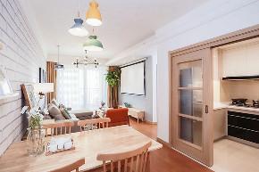 餐厅图片来自家装大管家在90平北欧原木空间 简约而舒适的分享