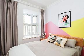 卧室图片来自家装大管家在90平北欧原木空间 简约而舒适的分享