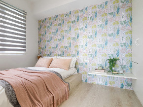 欧式 二居 收纳 旧房改造 小资 卧室图片来自北京今朝装饰在北欧风搭配少女粉的分享
