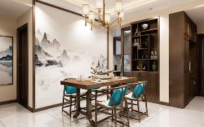 中式装修 小户型装修 装修报价 餐厅图片来自创艺装饰在瑞丰国际新中式风格装修效果图的分享