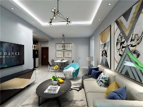 二居 简约 现代 铜仁装修 装修效果图 客厅图片来自创艺装饰在时代天街70平现代简约风格效果图的分享