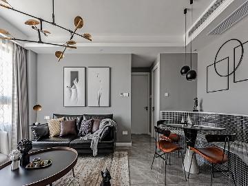 89平现代时尚家 黑白灰也是美