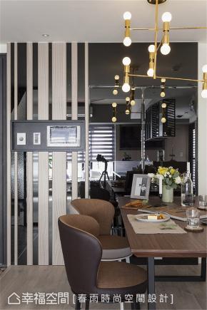 装修设计 装修完成 休闲多元 餐厅图片来自幸福空间在99平,拼贴北欧镜幻森林宅的分享