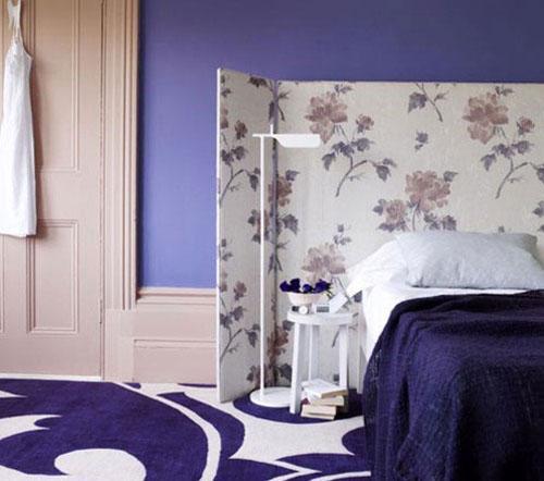床头巧装修  屏风充当背景墙的8个经典案例