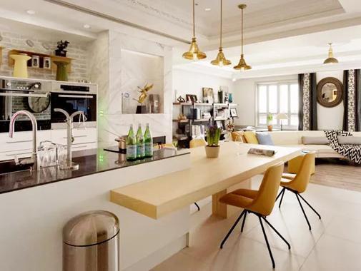 这个精致明亮的现代四口之家,简直是居家装修的经典范本!