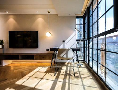85㎡两居,一体式设计增加的收纳空间,美观且实用,谁说小户型就该将就?