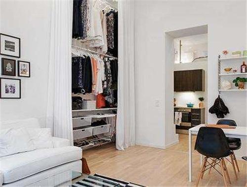 见缝插针巧腾挪,空间不大如何打造衣帽间?