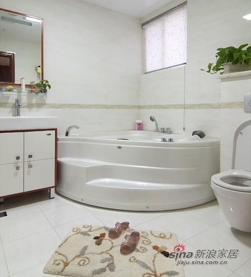 中式 三居 卫生间 小资图片来自用户1907658205在【高清】9万营造107平新中式儒雅居29的分享
